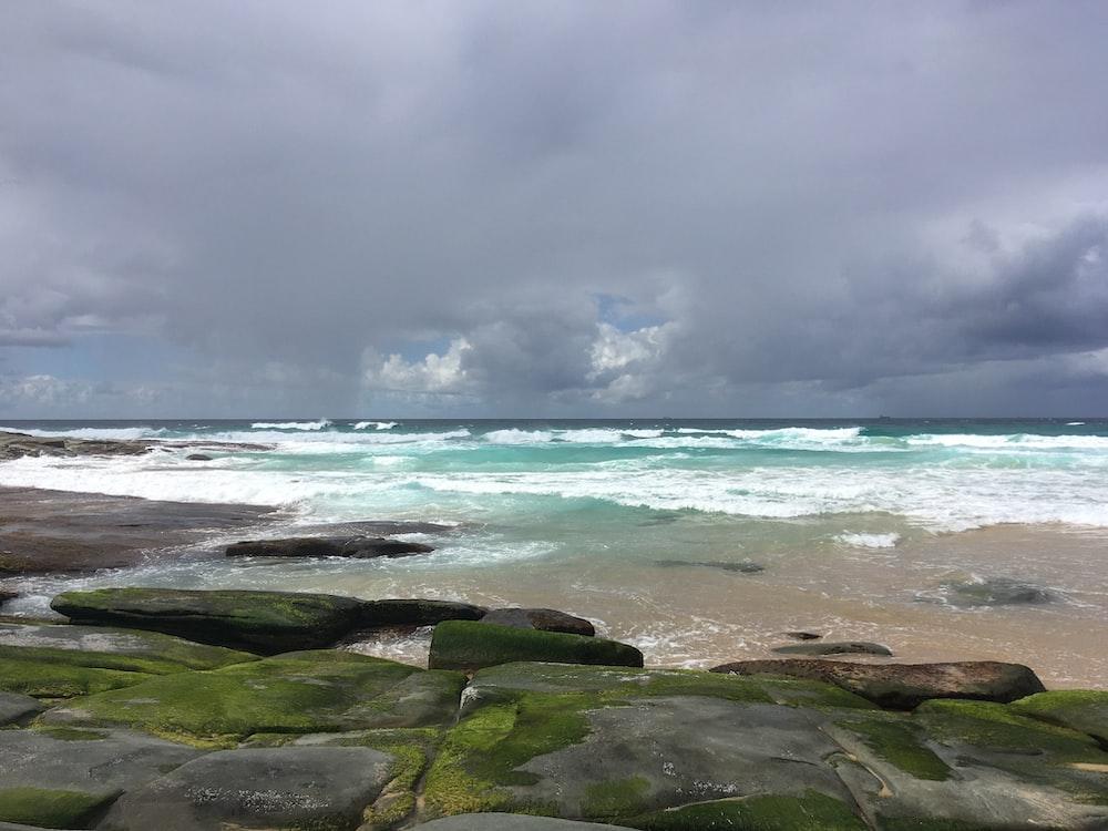 rocks on seashore