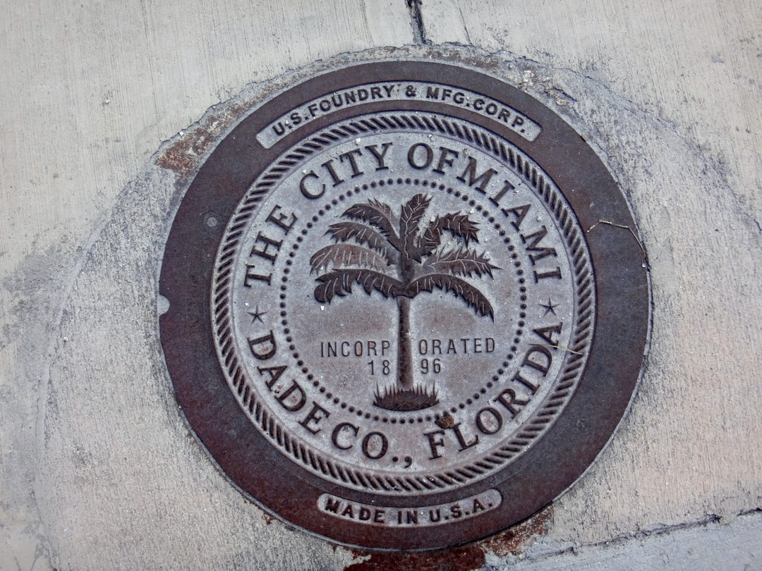 Some of the manhole covers in Miami have different designs.