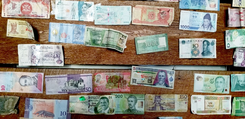 assorted-denomination banknote lot