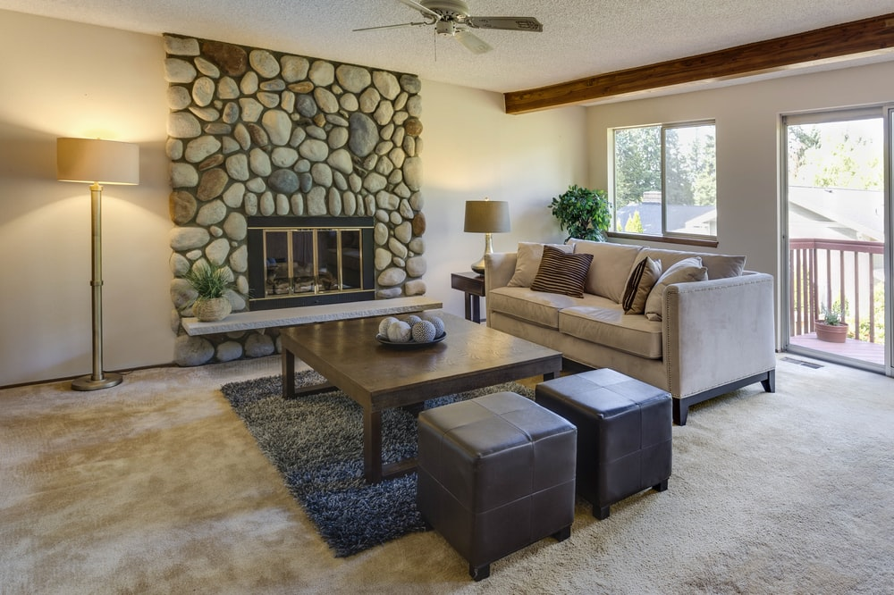 brown themed living room