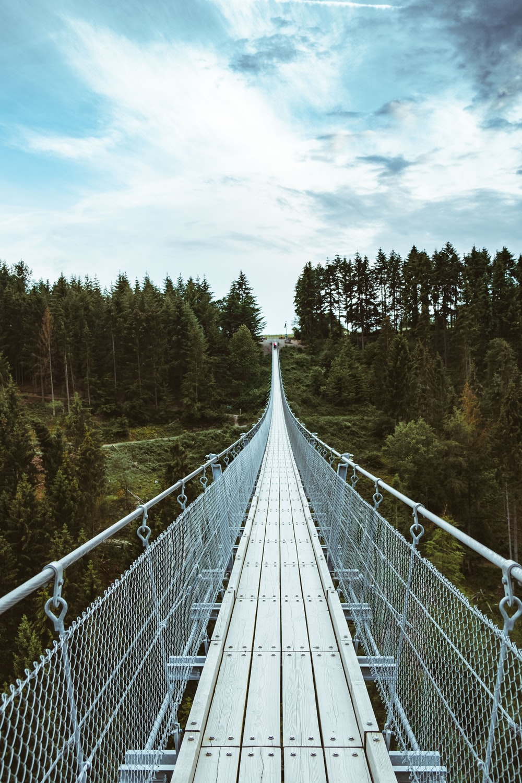gray steel bridge