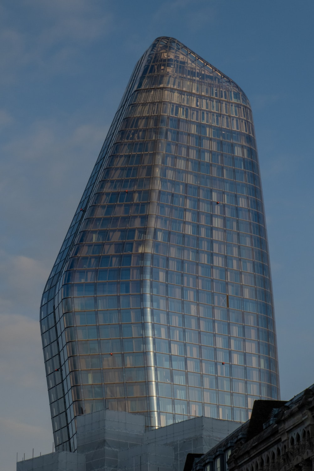 curtain wall building during daytime
