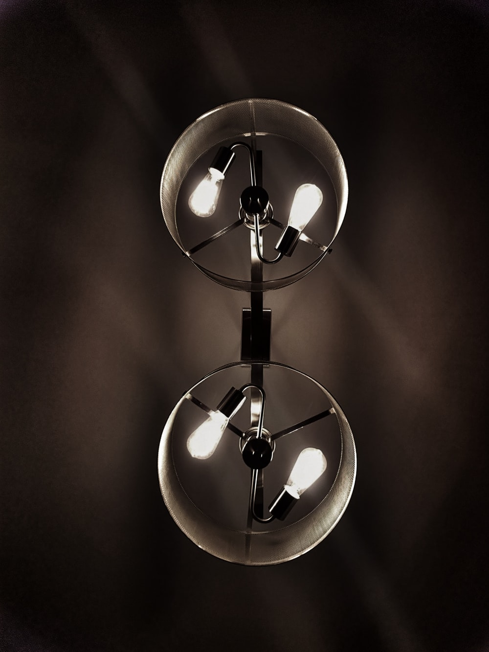two clear glass bulbs