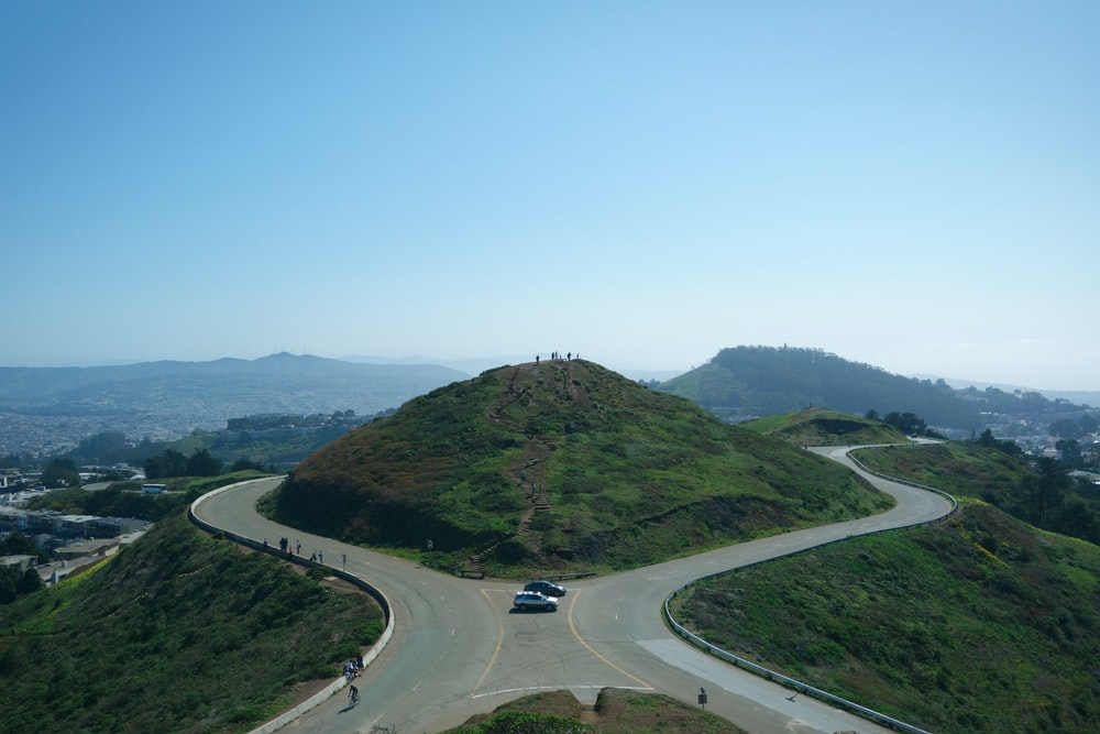 green mountain near rad during daytime