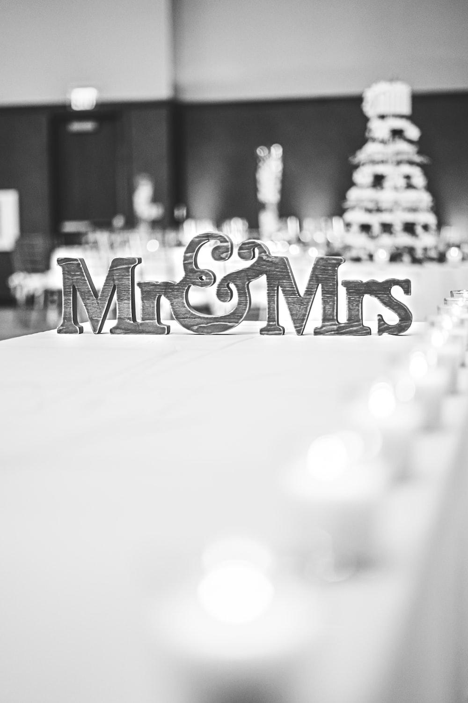 Mr & Mrs freestanding letters