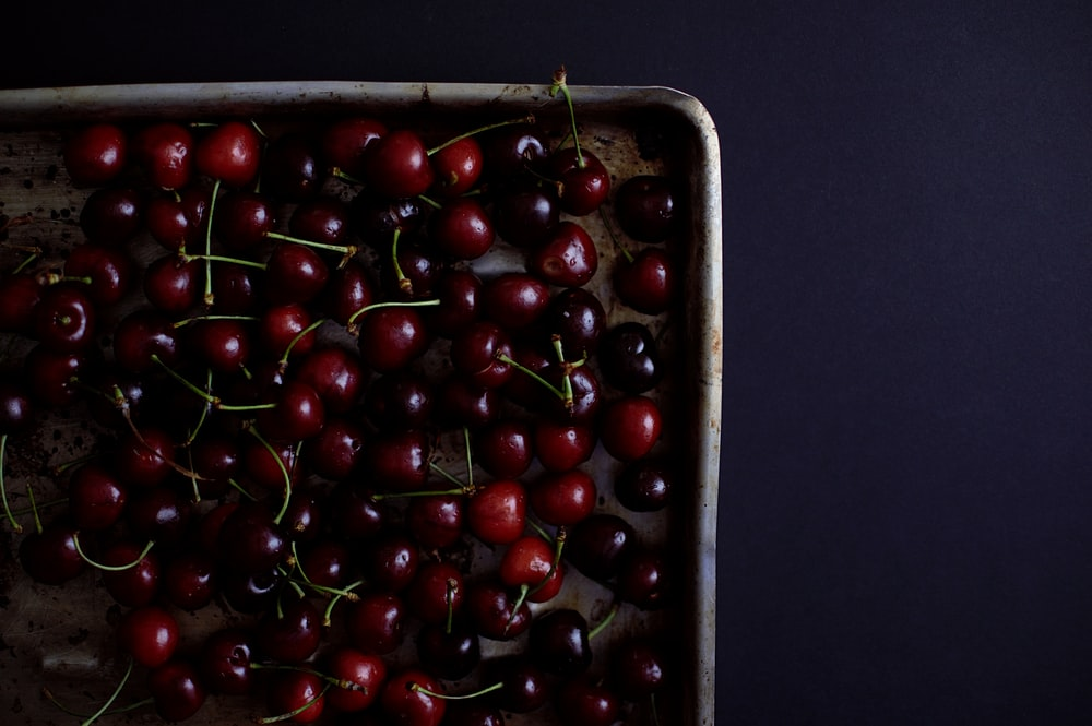 cherry lot in tray