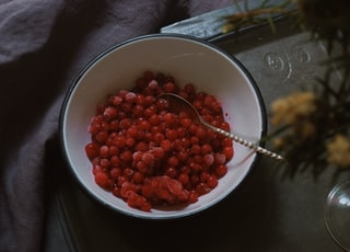 bowl of pomegranate seeds