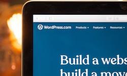 turned-on monitor showing WordPress.com