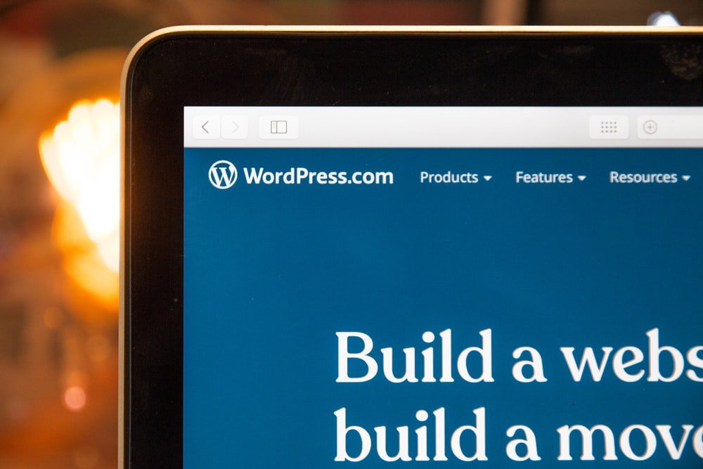WordPress reflected on a laptop monitor