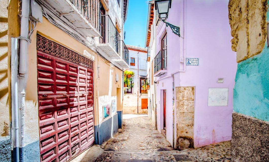 A little street in Grenada, Spain