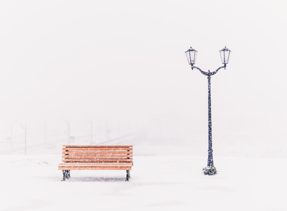 brown bench
