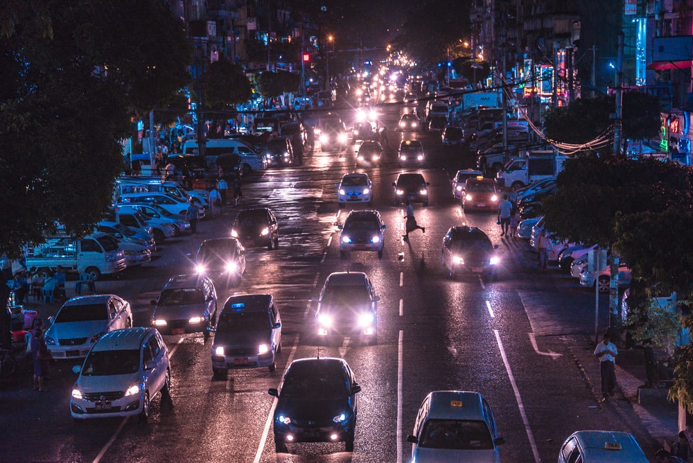 cars during night