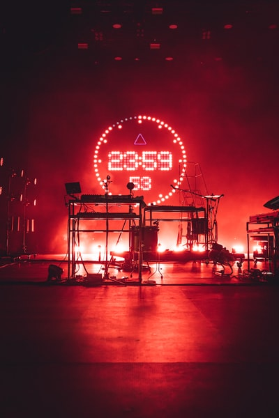 This incredible stage lighting was seconds before Bastille performed at Rock am Ring 2019 - the show was amazing!