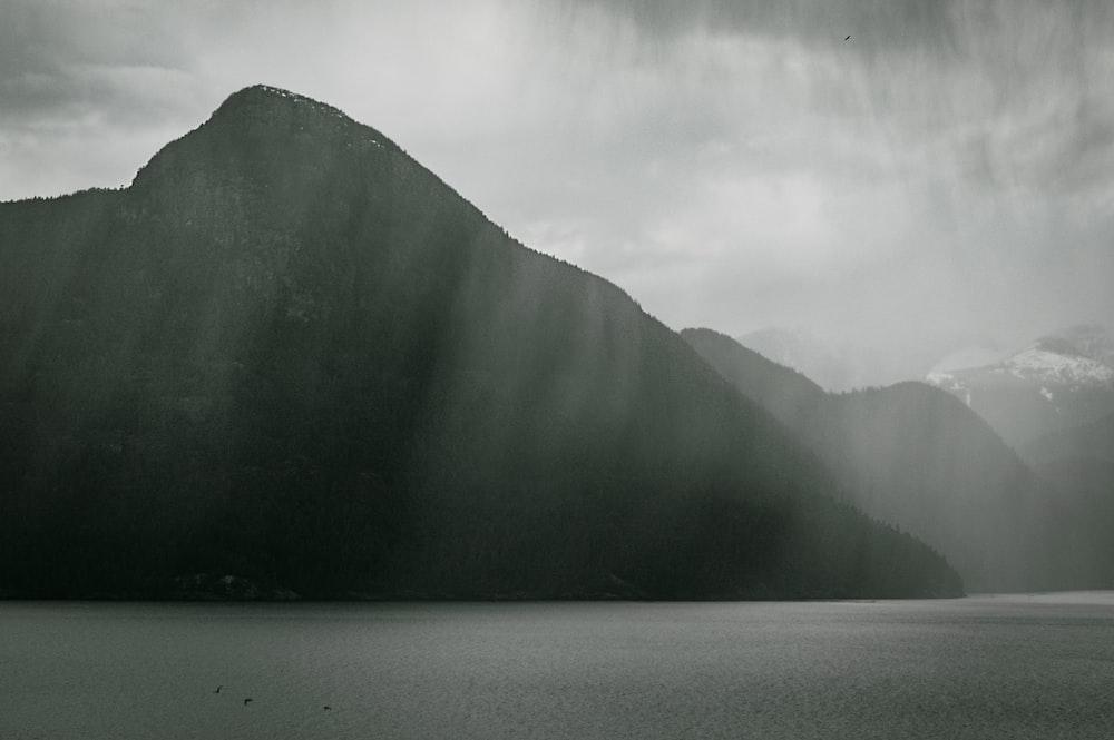 silhouette of mountain ranges