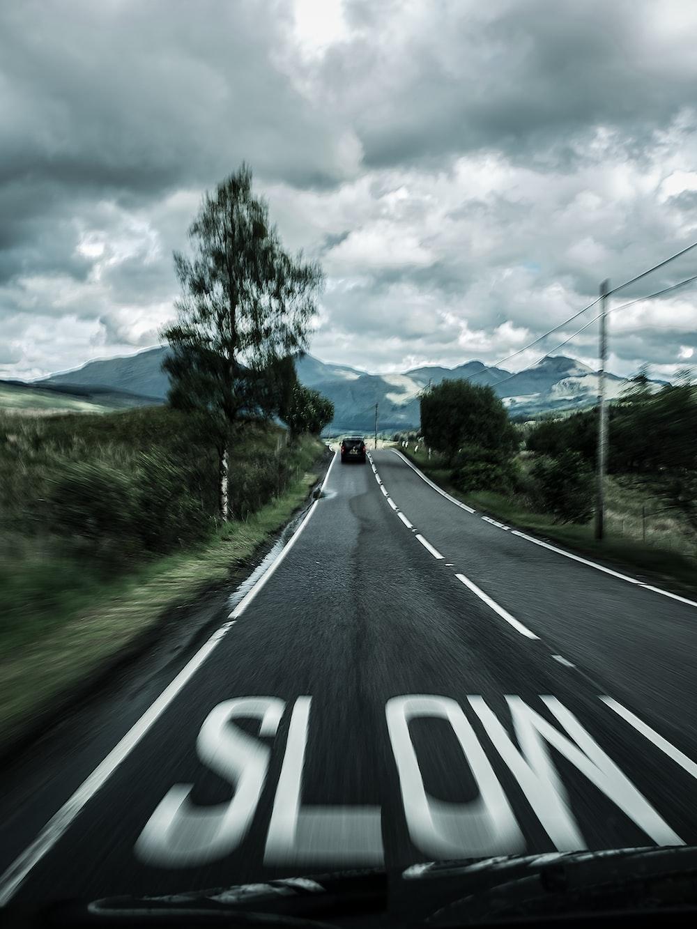 straight blacktop road