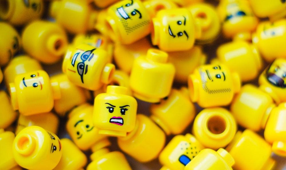 Lego minifig head toy lot