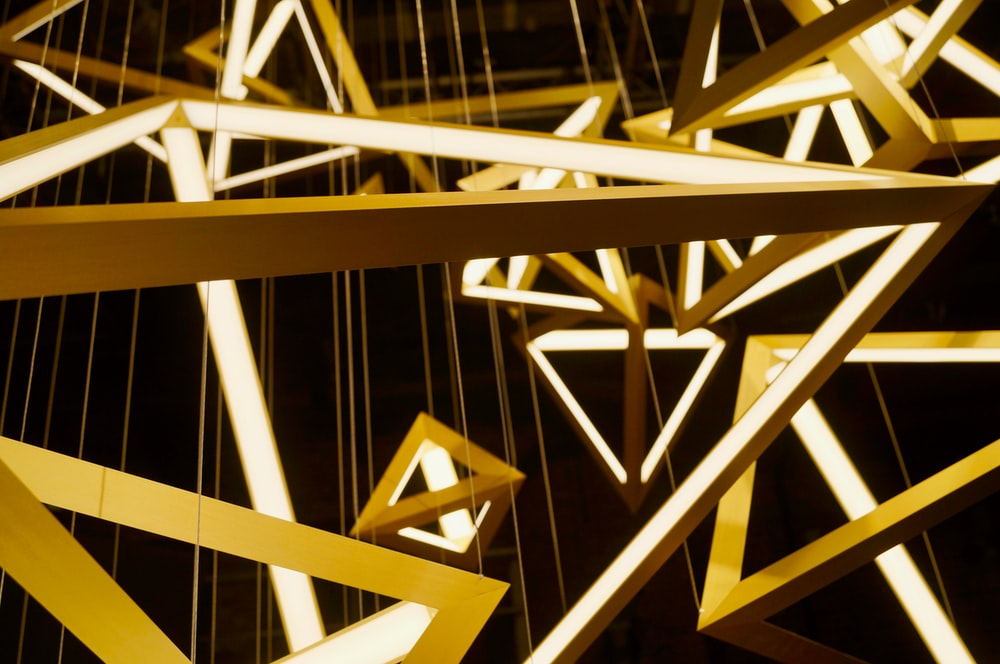 pyramid shaped chandeliers