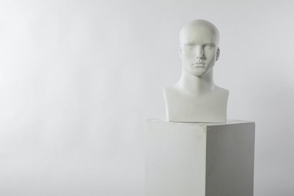 man white head bust
