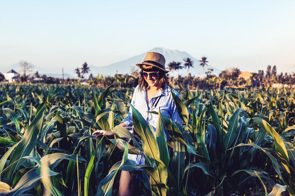 woman near corn field