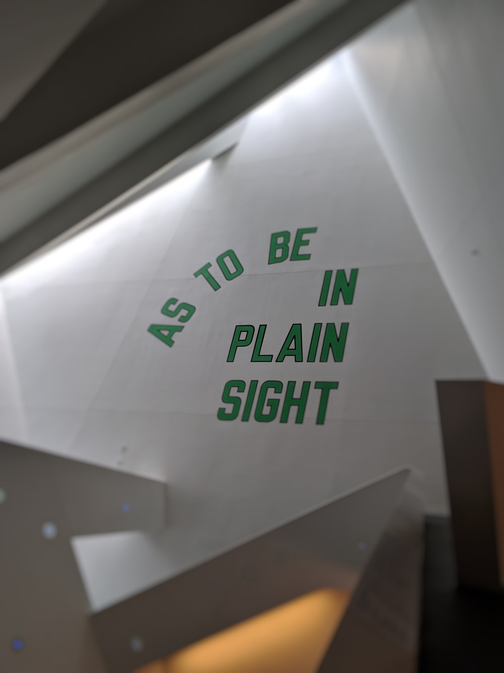as to be in plain sight text