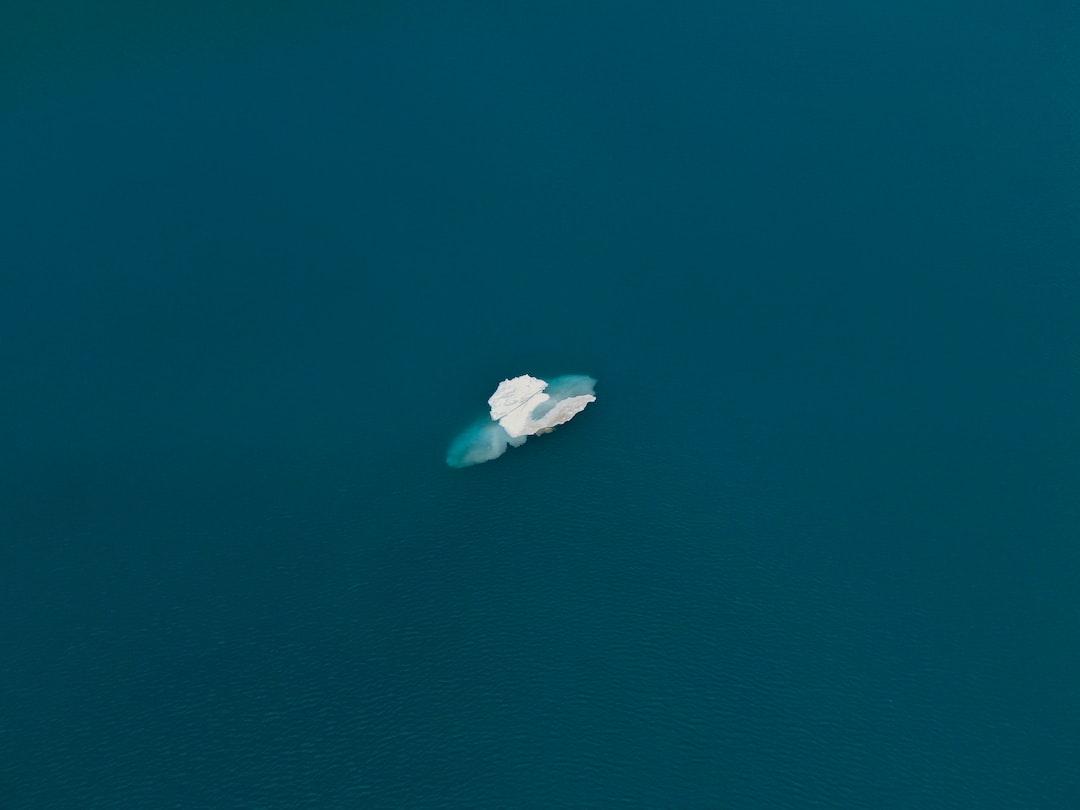just a swiss iceberg on a mountain lake