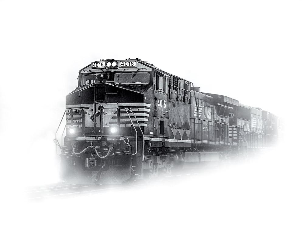 train on snowfield