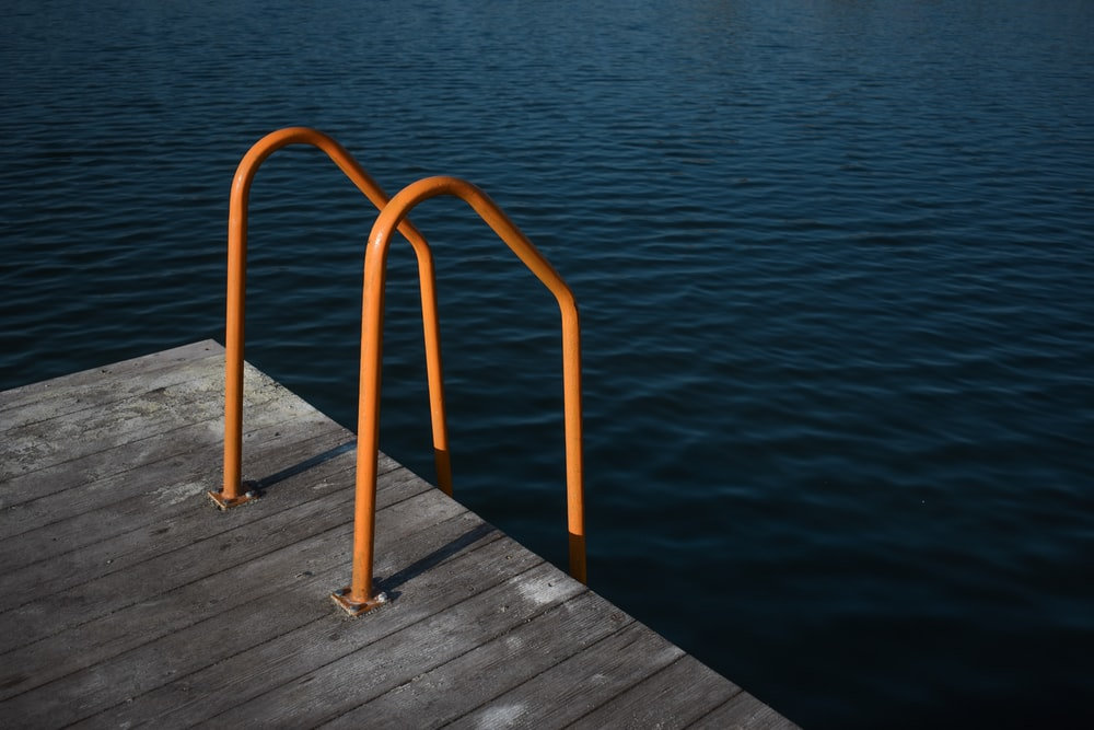 orange ladder handle