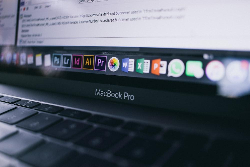 gray MacBook Pro