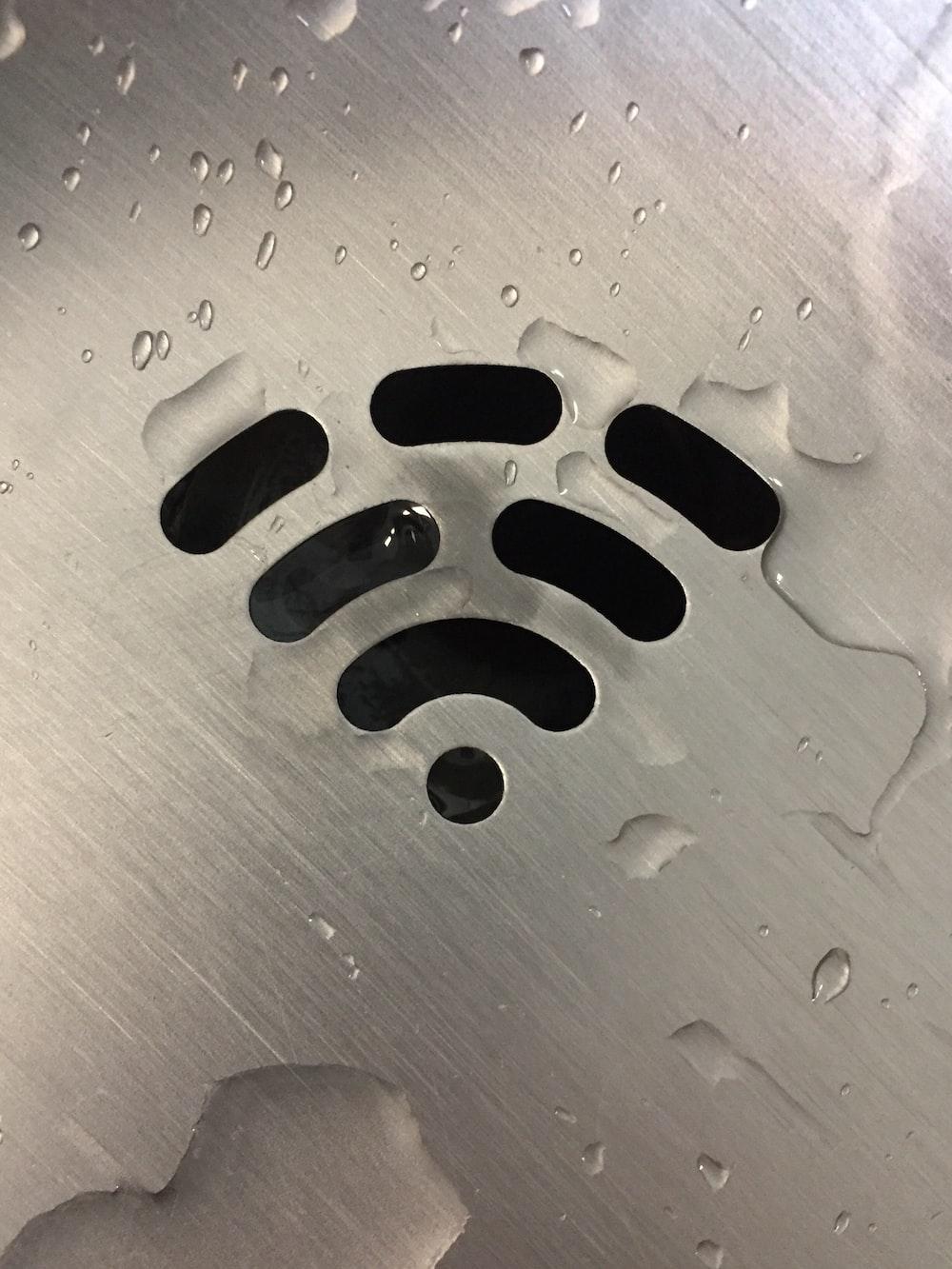wifi signal on metallic panel