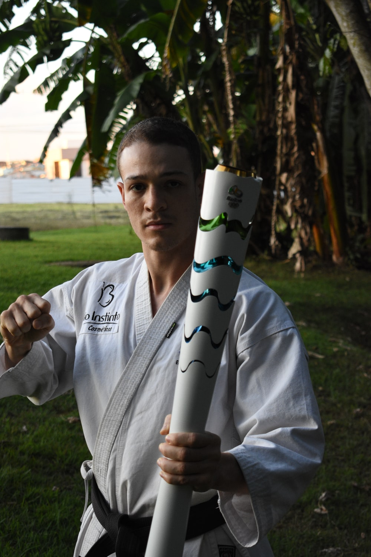 man wearing white karate gi
