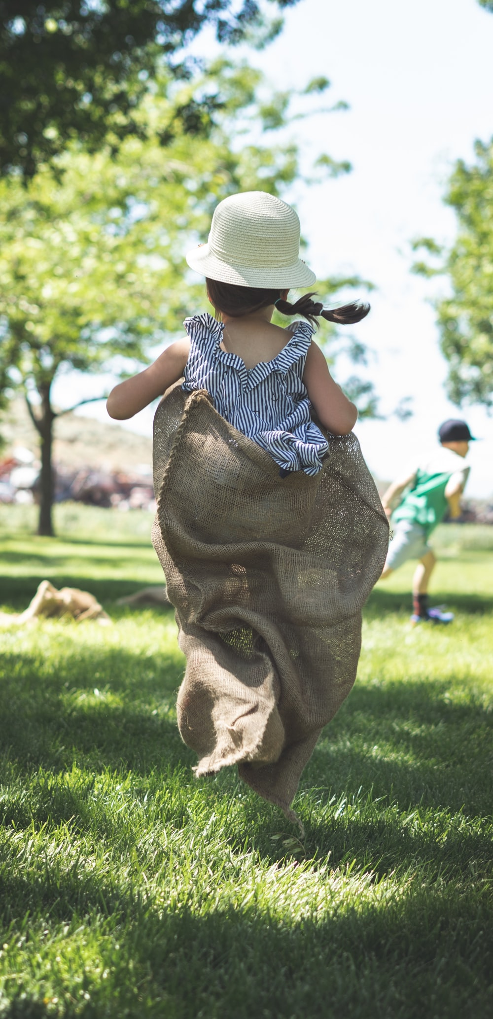 girl holding cloth