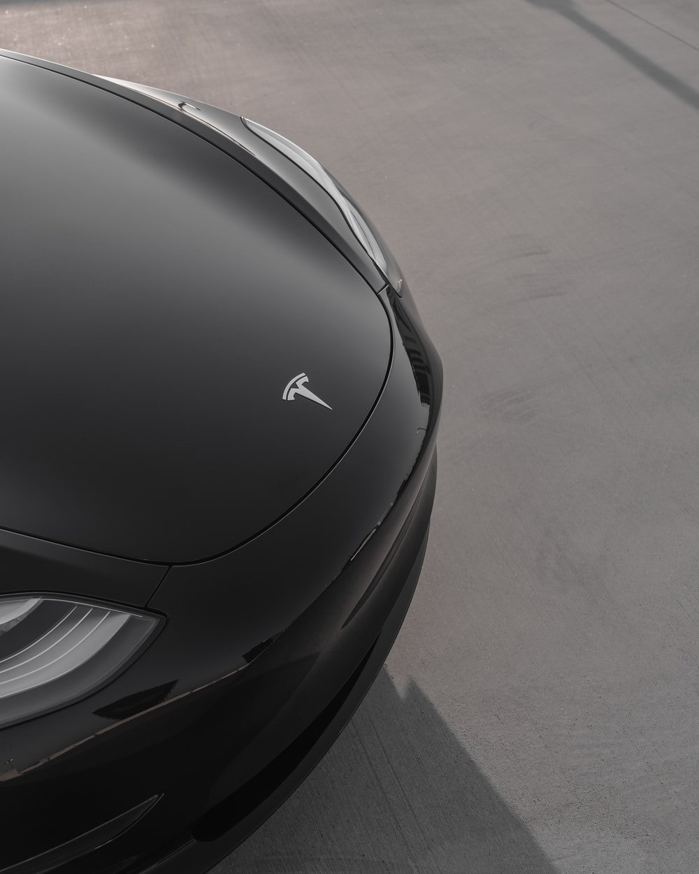 black Tesla vehicle