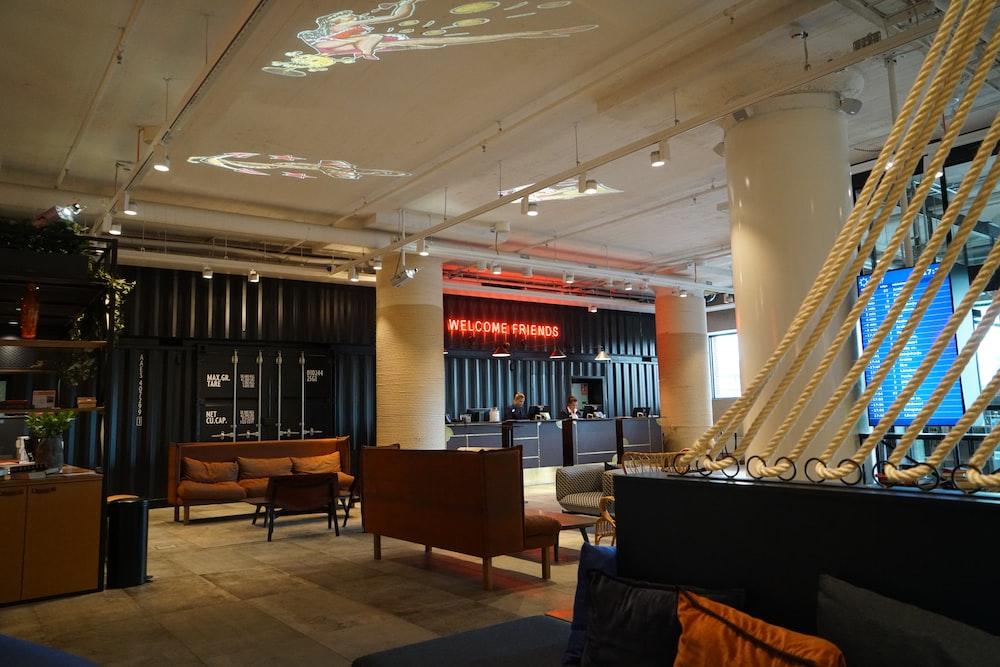 empty hotel lobby