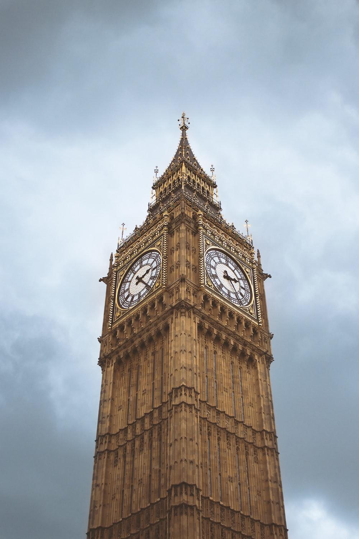 Big Ben under heavy clouds