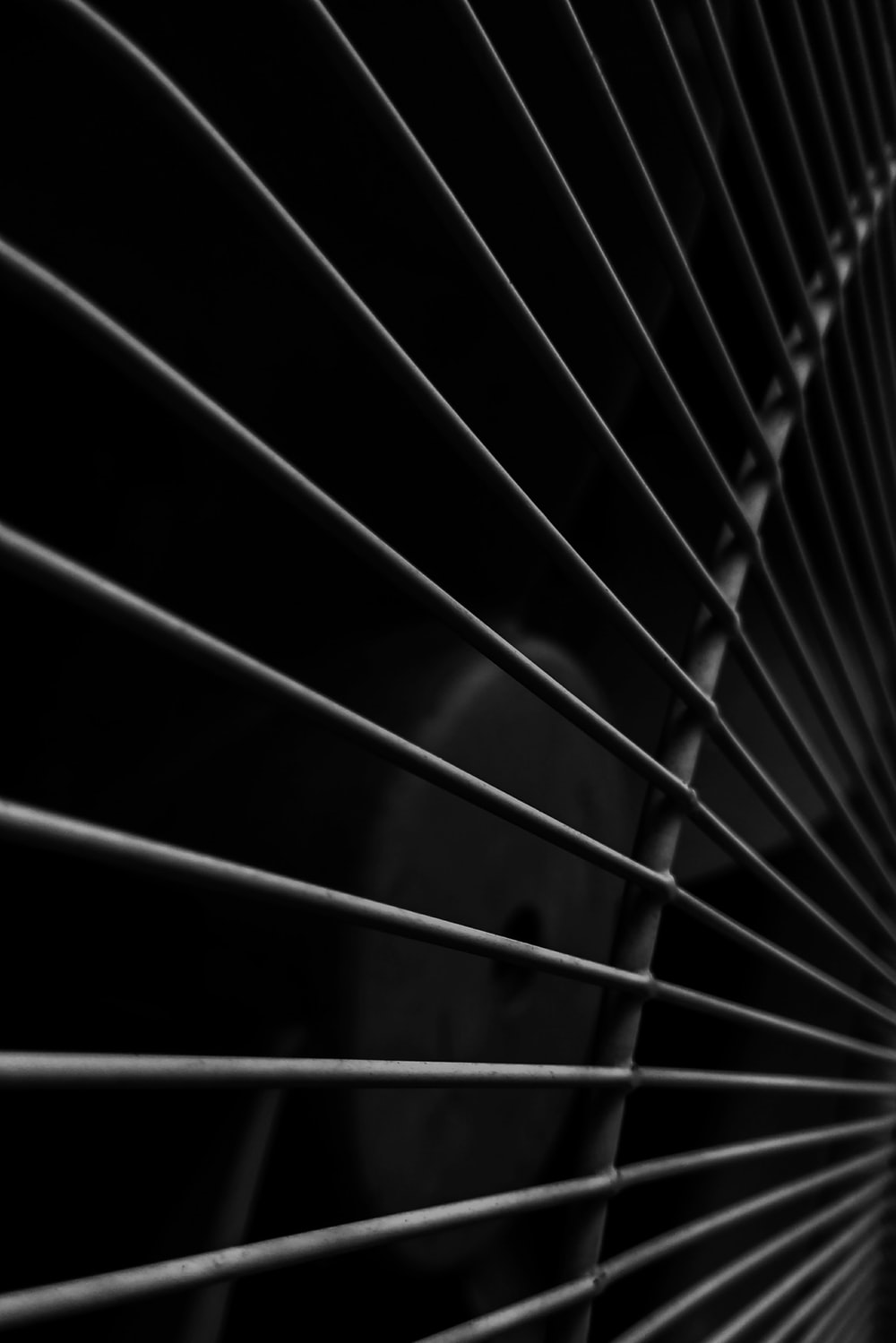 closeup photography of electric fan
