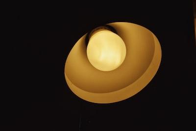 lighted white led bulb surrealism zoom background