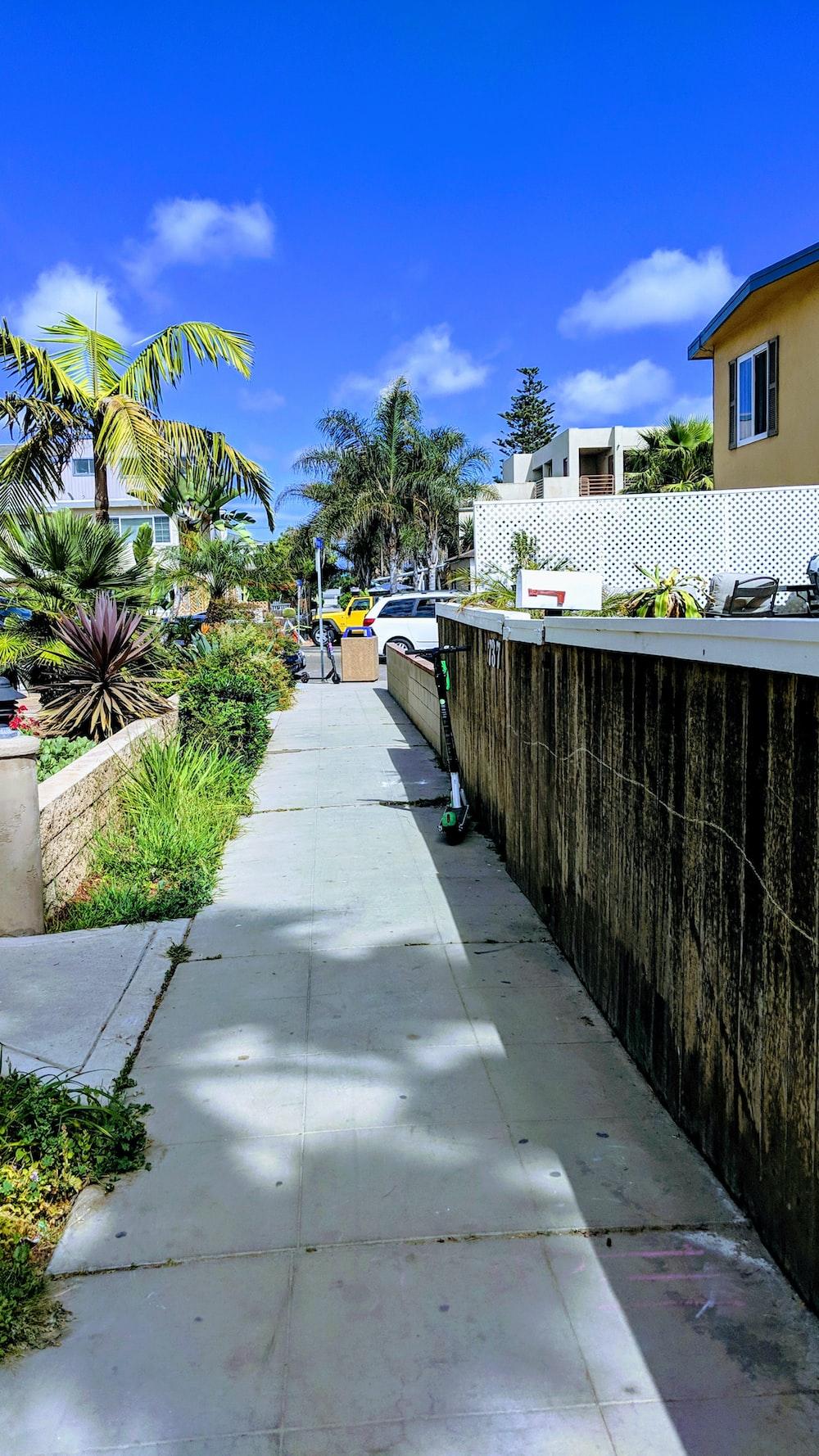 gray concrete walkway