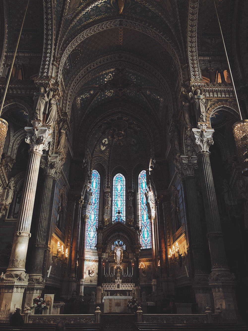 inside church view with no people
