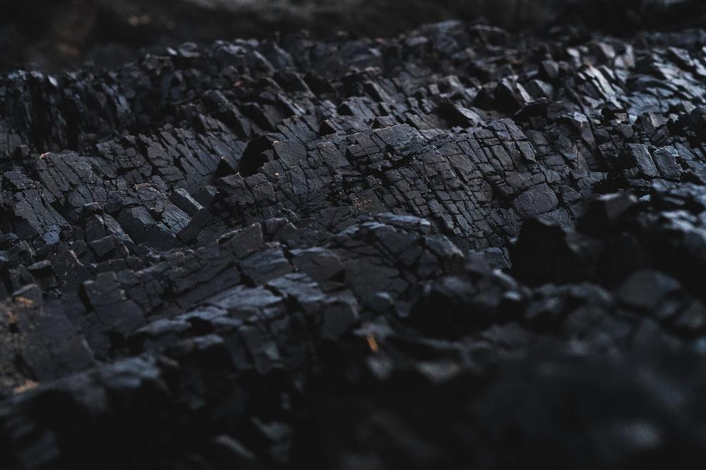 black charcoal
