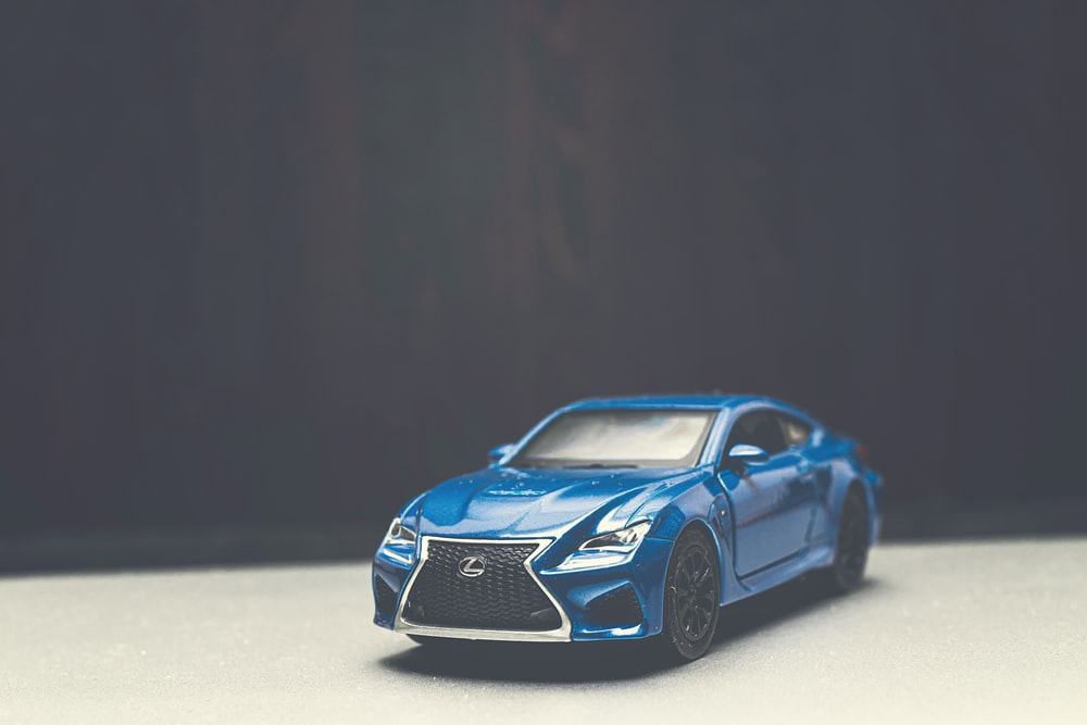 Blue Lexus sports car