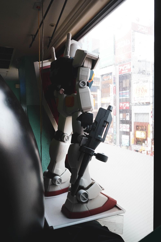 white robot display