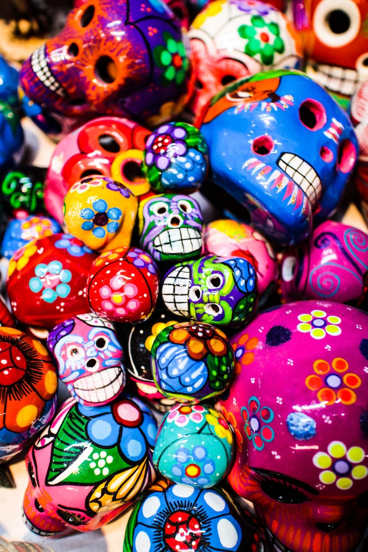 Assorted Colored Sugar Skull Wallpaper Photo Free Accessories