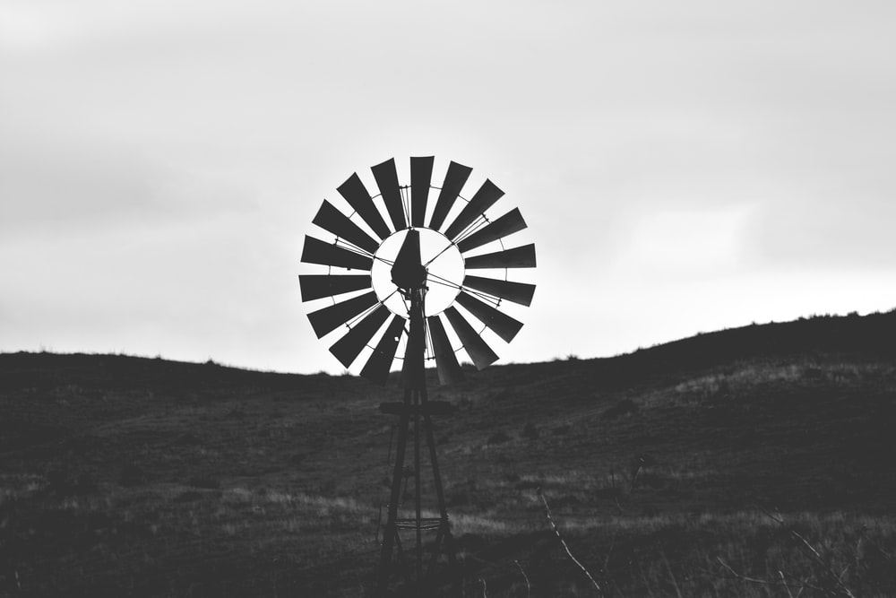 windmill tower at the field during day