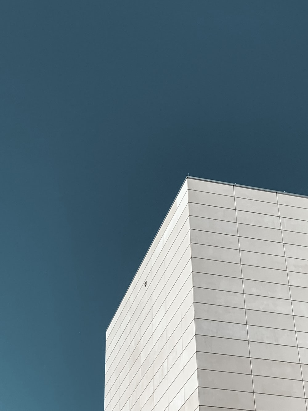 white building across sky