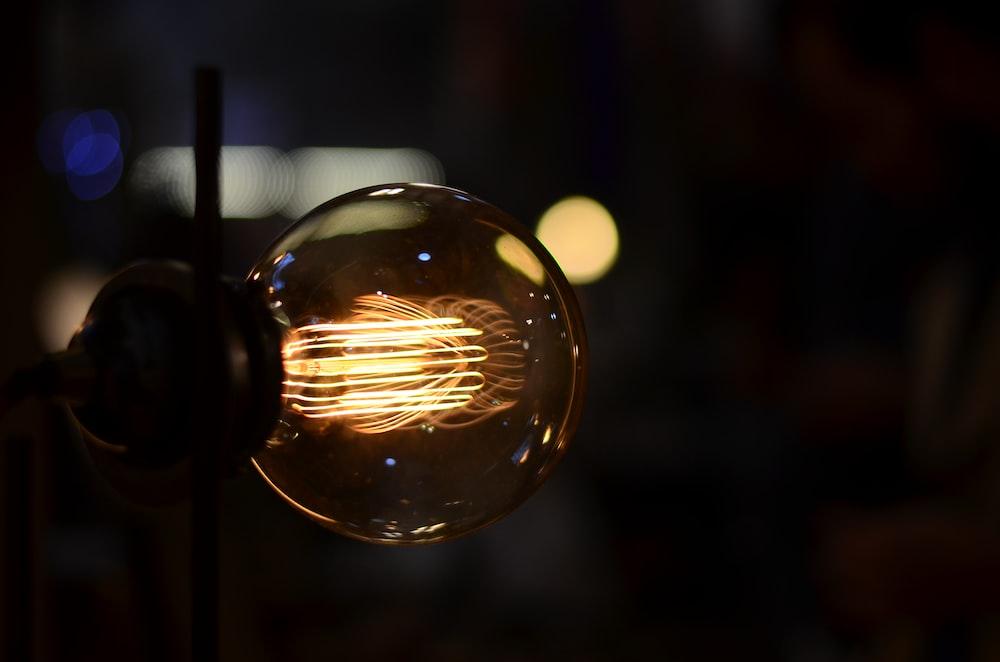 brown LED bulb