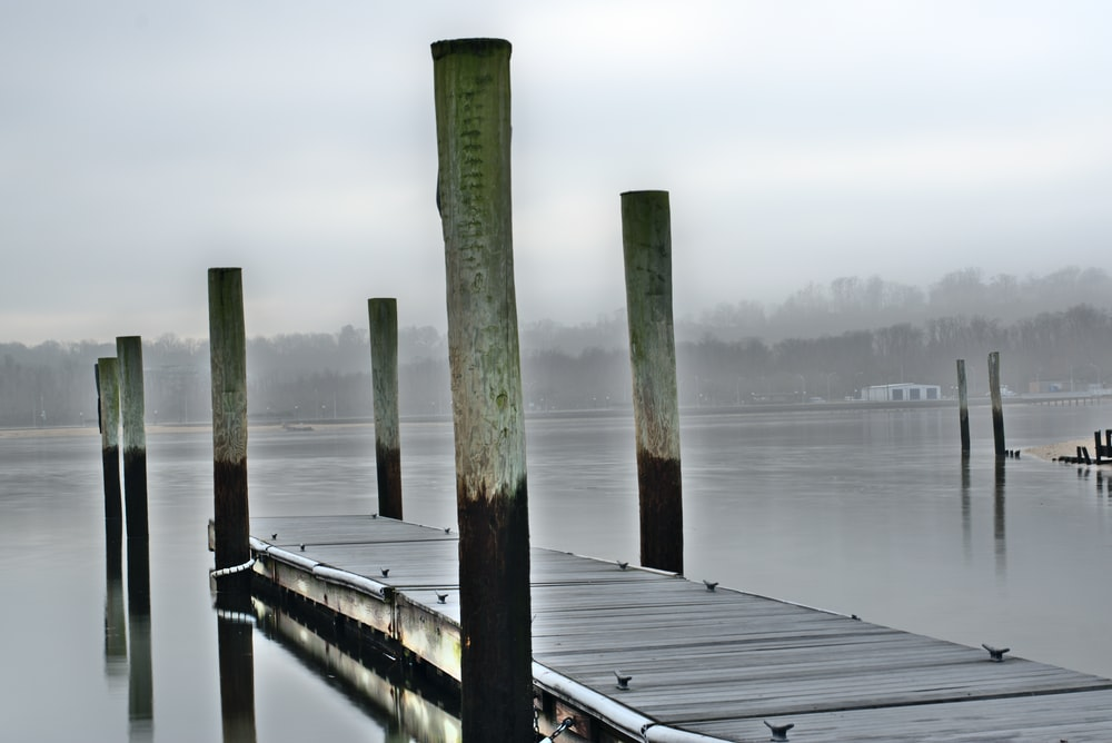 photography of wooden dock during daytime