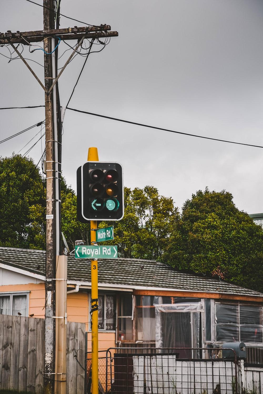 traffic light on green
