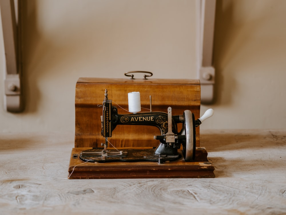 black and brown Avenue sewing machine