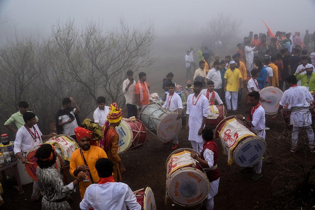 Palkhi Sohala of Chhatrapati Shivaji Maharaj on the occasion of Shivrajyabhishek Sohala (Coronation Ceremony) at Raigad Fort, Maharashtra-India.