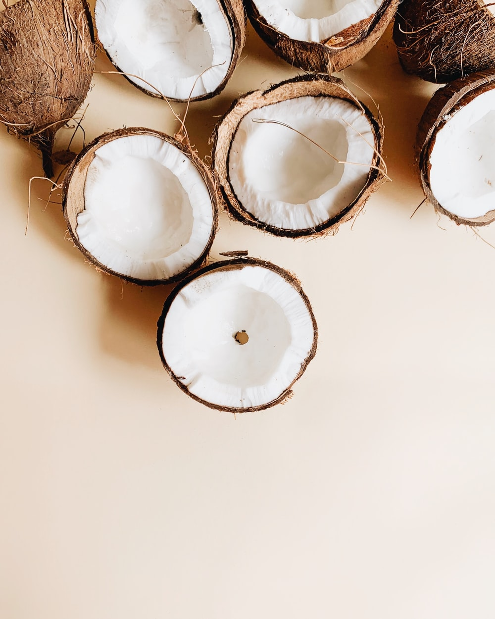 coconuts on white surface